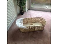 Moses Basket with Mattress for FREE
