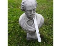 STONE bust William Shakespeare.