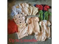 Bundle of Baby Clothes upto 3 months