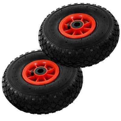 vidaXL 2x Sack Truck Wheels Rubber 3.00-4 (260x85) Cart Wagon Trolley Tyre