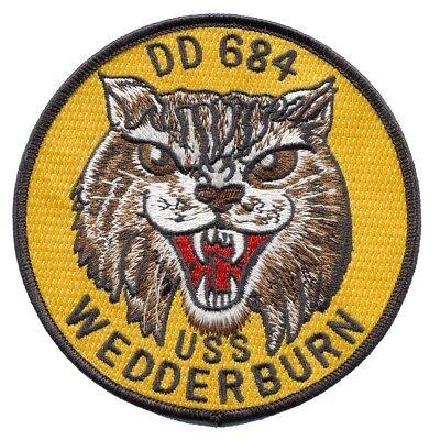USS WEDDERBURN DD-684 Fletcher-class Destroyer Ship Military Patch