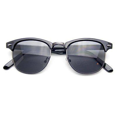 - Semi Rimless Sunglasses Men's Women's Half Frame Vintage Designer Metal
