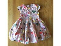 100% cotton dress age 2-3 indigo collection M&S
