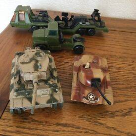 Lesney Matchbox large tanks and vehicles - 1970s