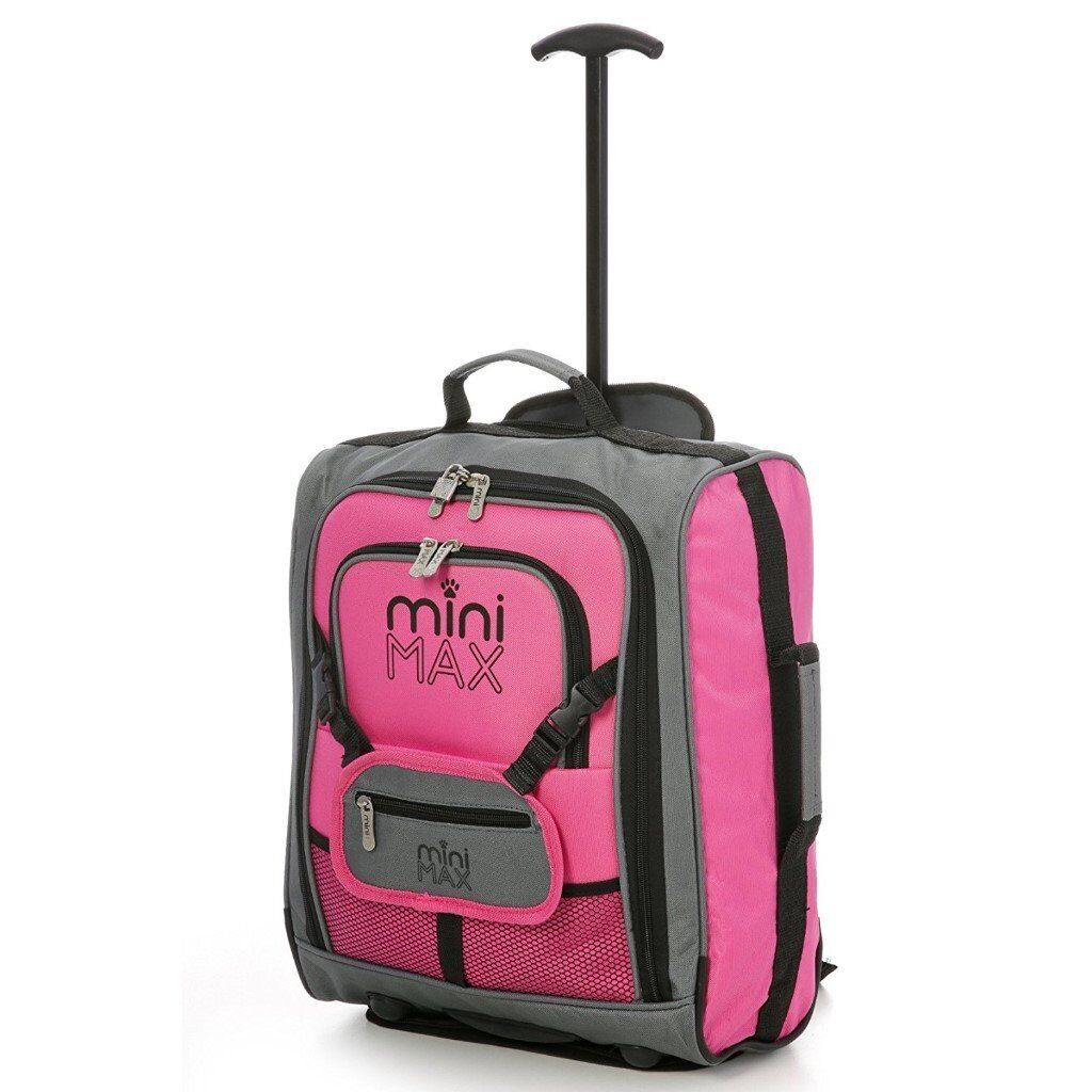 MiniMAX Childrens/Kids Cabin Luggage Carry On Trolley Suitcase New ...