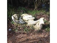 Large mermaid garden statue from France