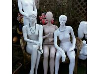 Used sitting and standing female mannequins, bums, busts, hands, arms