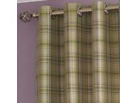 Green/purple tartan curtains