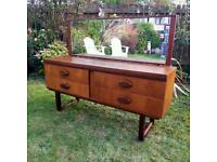 Vintage Teak Midcentury Danish Style Dressing Table / Desk Excellent Condition MCM