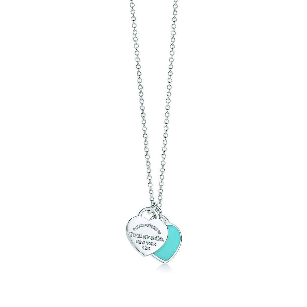 90cbc51fb5585 Authentic Tiffany&Co Return to Tiffany Double BLUE Heart Tag Sterling  Silver Necklace and Pendant | in Kings Lynn, Norfolk | Gumtree