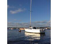 Yacht, sailing boat, lifting keel, fibreglass