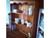 Solid Pine Traditional Bookcase (delivery available)