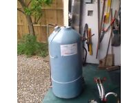 140 litre indirect vented Insulated copper hot water cylinder and immersion heater.
