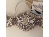 Beautiful detailed bridal headpiece