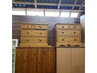 Soild pinewood 2 over 2 drawer chest
