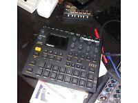 Elektron Digitakt Sequencer/Sampler. Roland TR8 Drum Machine. Volca FM Synth