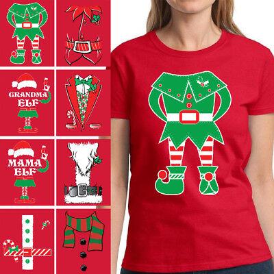 Elf Suit Christmas Shirt for Women Santa Tuxedo Mama Elf Grandma Elf Family Xmas - Santa Suit For Women