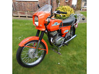 CZ 125 D/L motorcycle, registered 1986 , condition stunning - collection from RG42