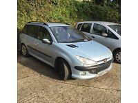 2002 Peugeot 206 Estate | 136,000 | DIESEL | Great little Car