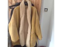 Gorgeous mustard yellow Shearling coat - in very good condition - Size Large