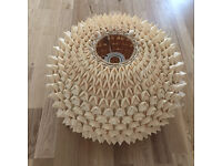 """""""Stegosauras""""-style Ceiling Shade in timber by Habitat"""