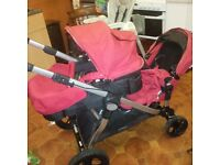 baby jogger city select tandem double buggy pushchair inc extras