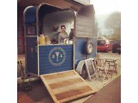 Catering trailer (refurbished Harris horse box)