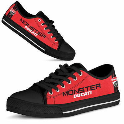 Ducati-Monster shoes - Men's Low Top - Top Men's shoes - Best gift for (Best Rubber Shoes For Men)