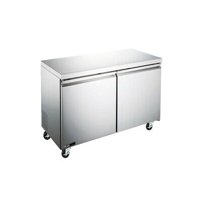 Peakcold 48 Commercial 2 Door Under-counter Stainless Refrigerator Work Table
