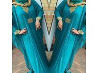 An Elegant Butterfly Dress with Internal Belt - New
