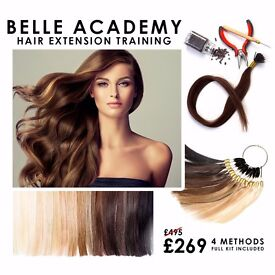 HAIR EXTENSION COURSES. ALL INCLUSIVE OF TRAINING, CERTIFICATION & KIT - SALE NOW ON.