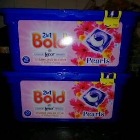 Bold 2 in 1 sparkling bloom 29 washes 2 packs for £8