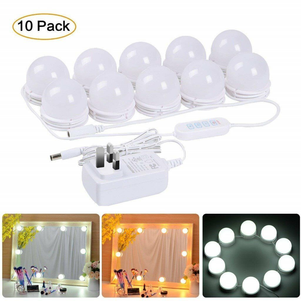 Led Mirror Lights W 5 Level Brightness Dimmable Memory Function 8 9ft For Make Up