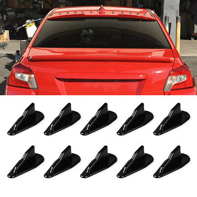 10 Pcs Universal Air Diffuser Spoiler Roof Top Shark Fin Wing Vortex (Roof Fin)