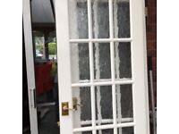 French glass pattern doors