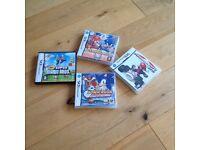 Nintendo ds games 3 super mario and 1 sonic