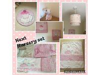 Next girls nursery set