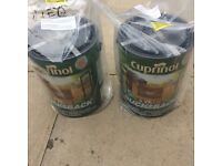 Cuprinol Fence Paint - Autumn Gold 5 Litres Each Two Paint Box - Sealed New