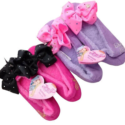 AUTHENTIC JOJO SIWA BOW BALLERINA SLIPPERS PINK OR PURPLE SIZES all sizes