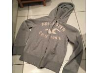 Hollister grey hoodie size small
