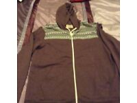 Men's zip up hodded jacket