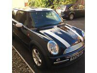 Mini Cooper Hatch 1.6l Petrol 3dr 2002 Black White Stripes