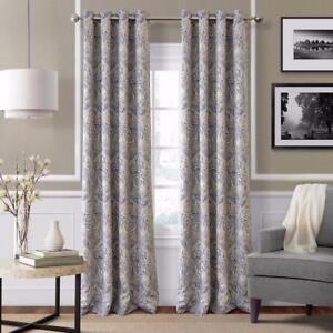 Julianne 95-Inch Blackout Grommet Top Window Curtain Panel in Blue ( SET OF 2 PANELS) NEW