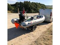 Honwave T35 Suzuki DF20 Extreme Trailer SIB RIB fishing boat watercraft ski