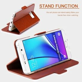 Samsung Galaxy Note 5 Luxurious Leather Case - NEW
