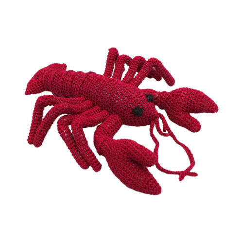 Dark Pink Lobster Handmade Amigurumi Stuffed Toy Knit Crochet Doll VAC