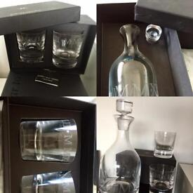 2012 'Culinary Concepts' decanter and Tumbler glasses