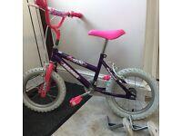 "Girls bike 12"" (including optional Stabilisers) for £20"