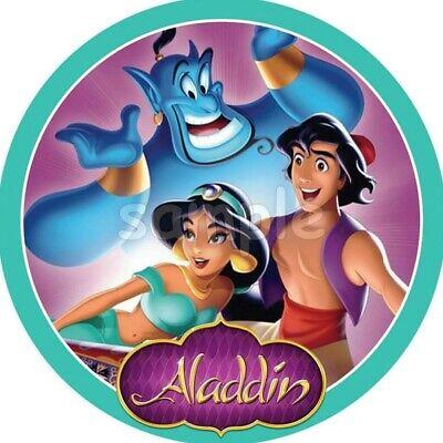 Aladdin Eßbar Tortenbild Tortenaufleger Party Deko Muffin Jasmin Geburtstag dvd ()