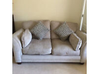 THREE PIECE SUITE, SETTEE AND TWO ARMCHAIRS